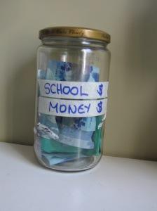 school money jar